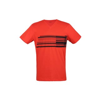 Z Zegna Red Wraparound Bar T-shirt (4 options available)