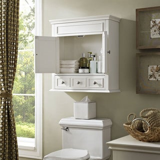 Crosley Furniture Lydia White Wood Wall Cabinet