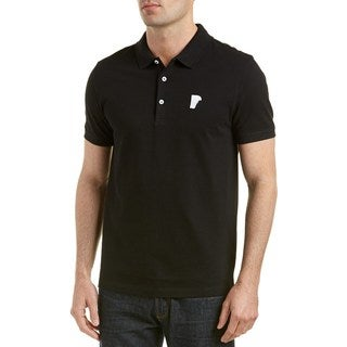 Versace Collection Black Medusa Pique Polo