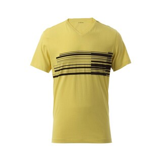 Z Zegna Yellow Wraparound Bar T-shirt