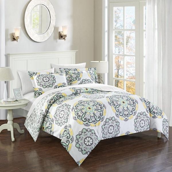 Chic Home 7-piece Aragona Grey Bed-in-a-Bag Duvet Set