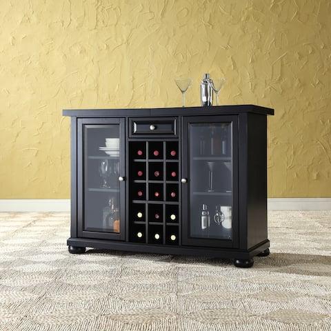 "Alexandria Sliding Top Bar Cabinet- Black Finish - 47.75 ""W x 19 ""D x 34 ""H"