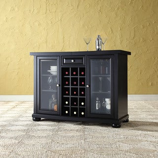 Alexandria Sliding Top Bar Cabinet- Black Finish