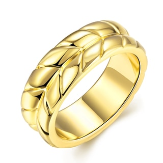 Hakbaho Jewelry Gold Plated Leaf Branch Design CZ Ring