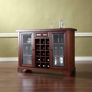 LaFayette Sliding Top Bar Cabinet in Vintage Mahogany Finish