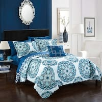 Chic Home 4-Piece Miranda Blue Quilt Set