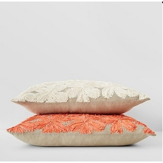 Flower Peach Throw Pillow