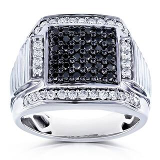 Annello by Kobelli 10k White Gold 1ct TDW Men's Diamond Ring|https://ak1.ostkcdn.com/images/products/15961014/P22359362.jpg?impolicy=medium