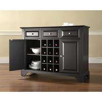 LaFayette Buffet Server / Sideboard Cabinet with Wine Storage in Black Finish
