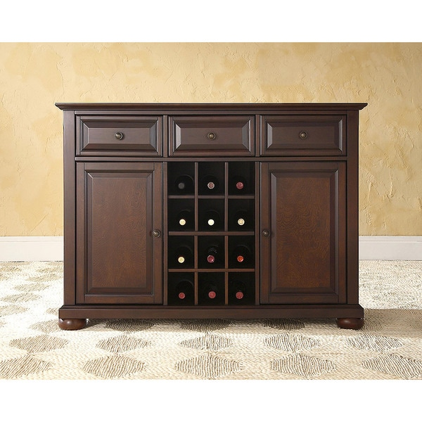 Shop Alexandria Buffet Server Sideboard Cabinet With Wine