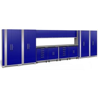 NewAge Products Performance Plus 2.0 14-piece Garage Storage Set with Stainless Steel Worktop