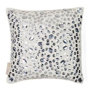Sivaana Stone Diva Ivory Cotton-blend Throw Pillow