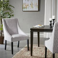 Madison Park Paula Gray/ Silver Dining Chair - Set of 2