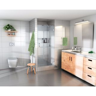 Glass Warehouse 78-inch x 25-inch Frameless Shower Door