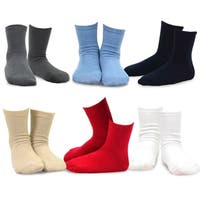 TeeHee Kids Boys Basic Cotton Crew Socks 6 Pair Pack (Solid)