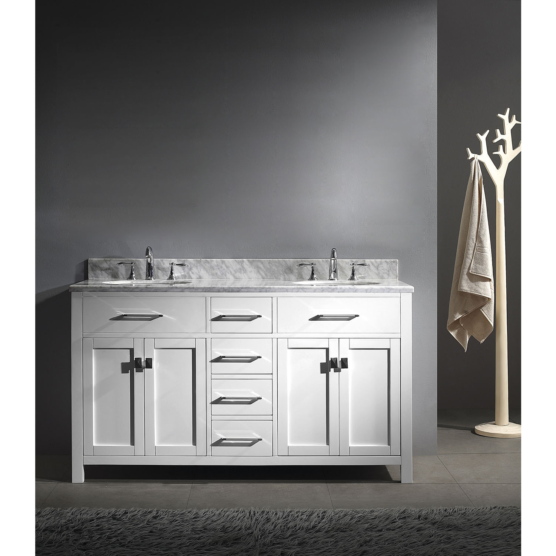 Virtu Usa Caroline 60 Inch Round Double Bathroom
