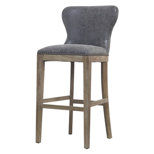 Dorsey Brown and Grey Nubuck Bar Stool. Opens flyout.