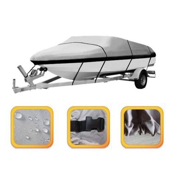17-19 ft Boat Cover Waterproof (Grey)