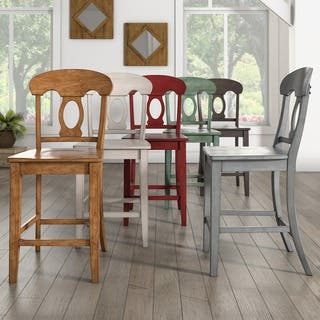 Eleanor Napoleon Back Wood Counter Chair (Set of 2) by iNSPIRE Q Classic|https://ak1.ostkcdn.com/images/products/15961682/P22359773.jpg?impolicy=medium