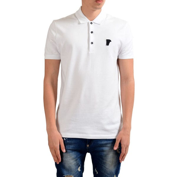 d86061af Shop Versace Collection White Pique Medusa Polo - Free Shipping Today -  Overstock - 15961685