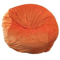 Cuddle Soft Orange Washable Bean Bag Chair