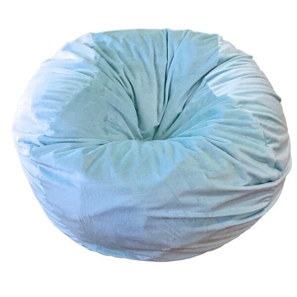 Wonderful Cuddle Soft Ice Blue Washable Bean Bag Chair