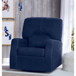 Delta Children Marshall Nursery Glider Swivel Rocker Chair, Navy