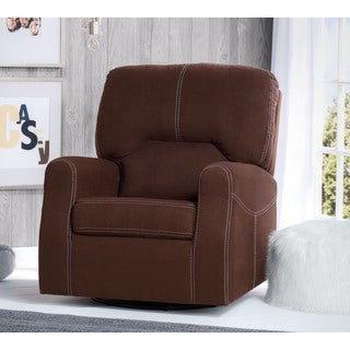 Delta Children Marshall Nursery Glider Swivel Rocker Chair, Cocoa