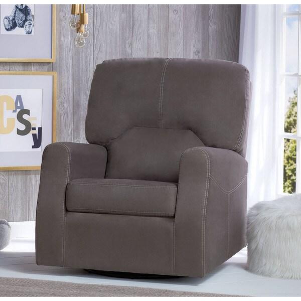 Delta Children Marshall Nursery Glider Swivel Rocker Chair, Graphite
