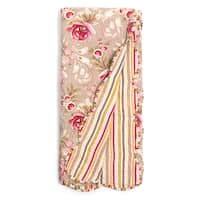 Lina Pink Floral Quilted Throw