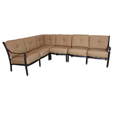 Parma Deep Seating Sectional Set with Cushions