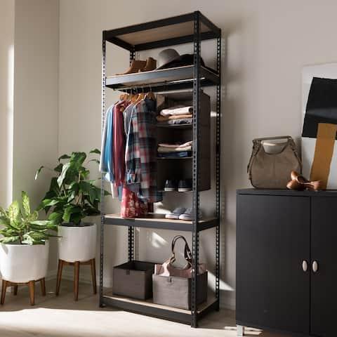 Metal 4-Shelf Closet Storage Racking Organizer by Baxton Studio