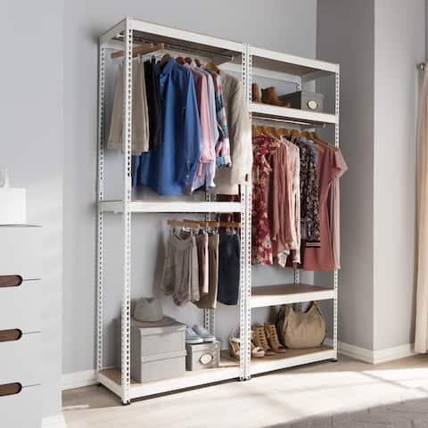 Metal 7-Shelf Closet Storage Racking Organizer by Baxton Studio