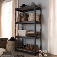 Metal 4-Shelf Multipurpose Shelving Rack by Baxton Studio