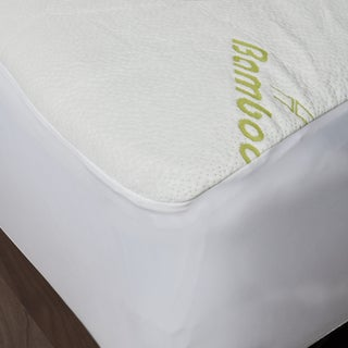 Maison Blanche - Bamboo Waterproof Mattress Protector - Green/Off-White