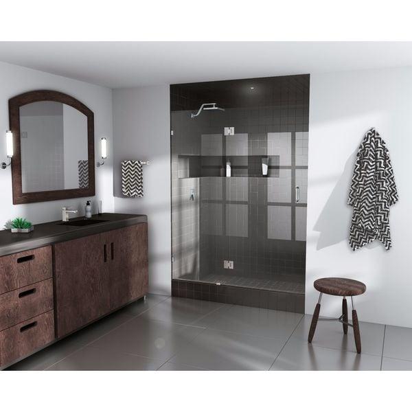 """Glass Warehouse 78� x 35.25"""" Frameless Shower Door - Glass Hinge"""