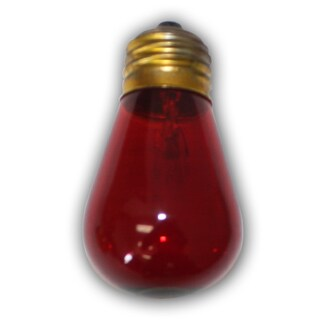 Red Bulbs - S-14 11W- medium size base bulb. 11 Wattage - E26