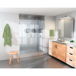 "Glass Warehouse 78 x 47.5"" Frameless Shower Door - Wall Hinge"