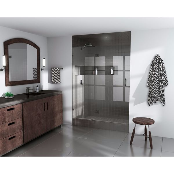 "Glass Warehouse 78� x 47.5"" Frameless Shower Door - Glass Hinge"