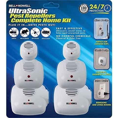 Bell + Howell Ultrasonic Pest Repeller Home Kit - 6 Pack - White