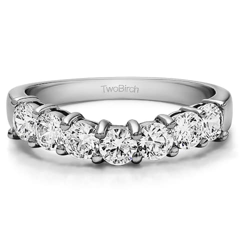 10k Gold Slightly Contoured Classic Style Wedding Ring mounted with Diamonds (G-H, I2-I3) (0.25 Cts. twt)