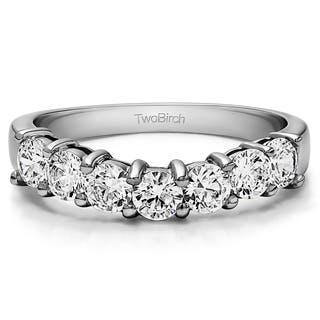 14k Gold Slightly Contoured Classic Style Wedding Ring mounted with Diamonds (G-H, I2-I3) (1 Cts. twt) (Option: 10.5)|https://ak1.ostkcdn.com/images/products/15963171/P22361197.jpg?impolicy=medium