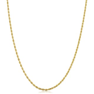 Fremada 10k Yellow Gold 1.5-mm Solid Rope Chain Necklace (14 - 30 inches)