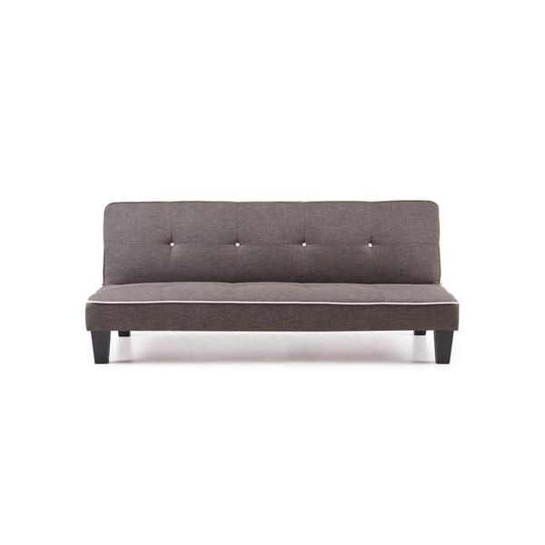 LYKE Home Fabric Tufted Convertible Sleeper Sofa