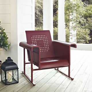Veranda Coral Red Steel Single Glider Chair