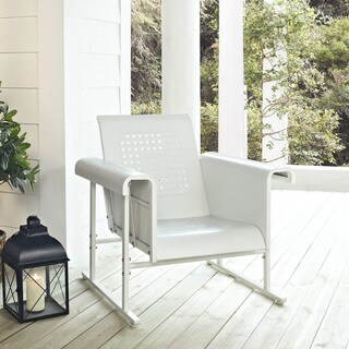 Veranda Single Glider Chair in Alabaster White
