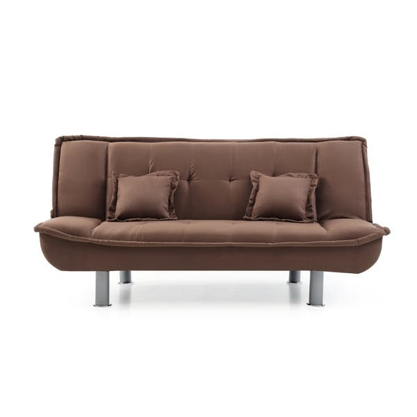 Lyke Home Microfiber Sofa Bed
