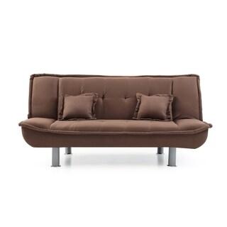 LYKE Home Microfiber Sofa Bed