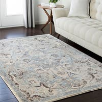 "Persian Inspired Neutral Grey Area Rug - 9'2"" x 12'3"""