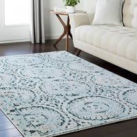 "Lizzie Stonewashed Blue Area Rug - 9'2"" x 12'3"""